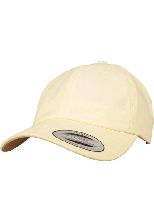 FlexFit Cap Peached Cotton Twill Dad Gelb - verstellbar