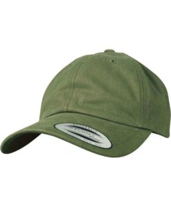FlexFit Cap Peached Cotton Twill Dad Olive - verstellbar