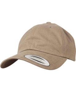 FlexFit Cap Peached Cotton Twill Dad Hellbraun - verstellbar