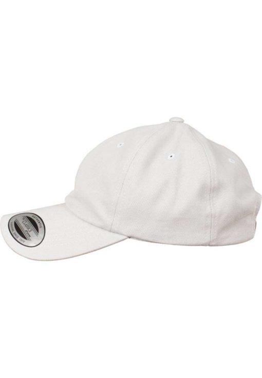 FlexFit Cap Peached Cotton Twill Dad Hellgrau - verstellbar Seitenansicht links