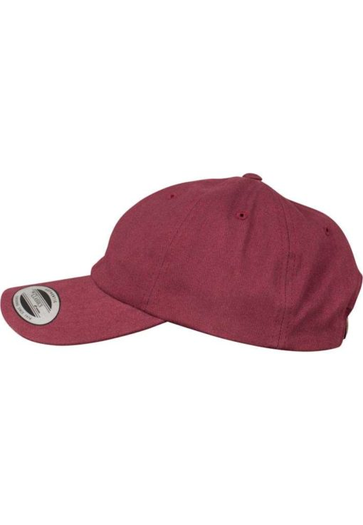FlexFit Cap Peached Cotton Twill Dad Maroon - verstellbar Seitenansicht links