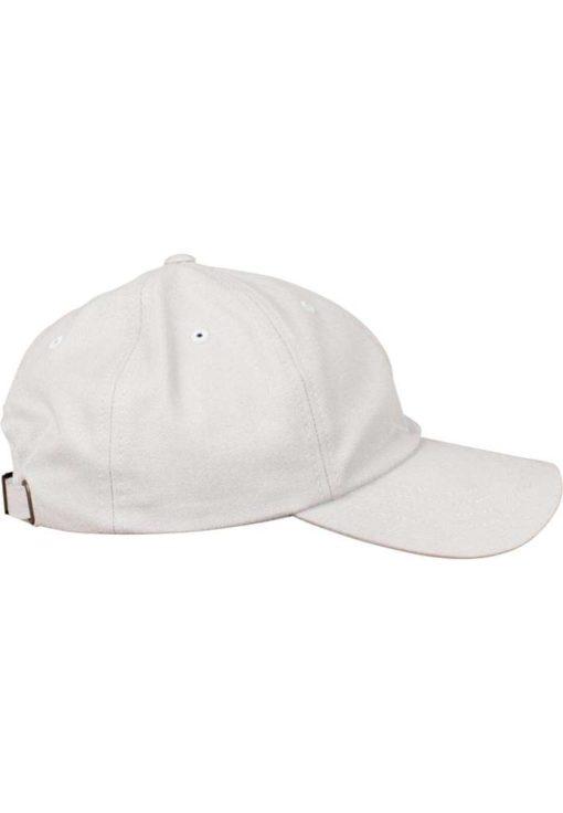 FlexFit Cap Peached Cotton Twill Dad Hellgrau - verstellbar Seitenansicht rechts