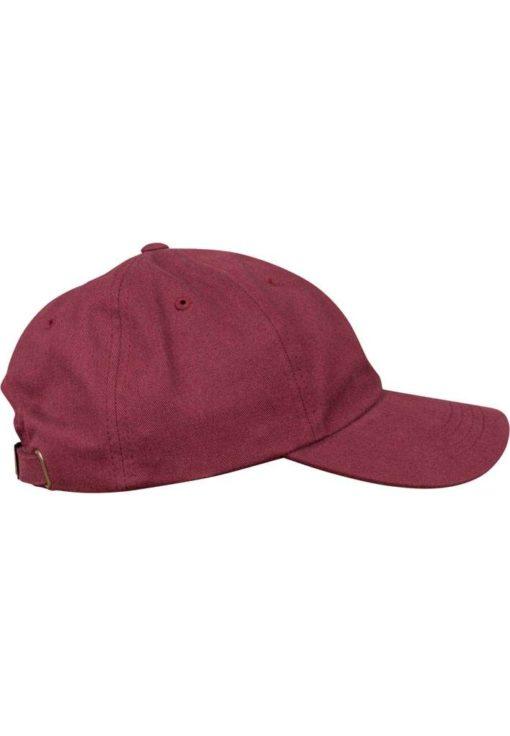 FlexFit Cap Peached Cotton Twill Dad Maroon - verstellbar Seitenansicht rechts