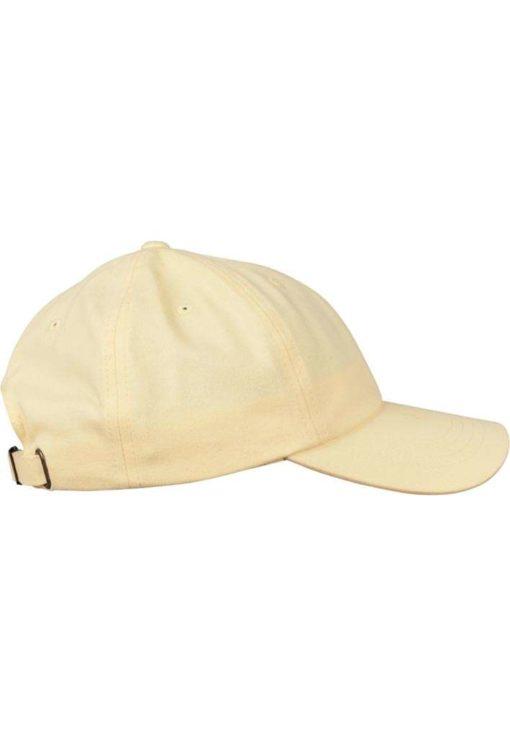 FlexFit Cap Peached Cotton Twill Dad Gelb - verstellbar Seitenansicht rechts