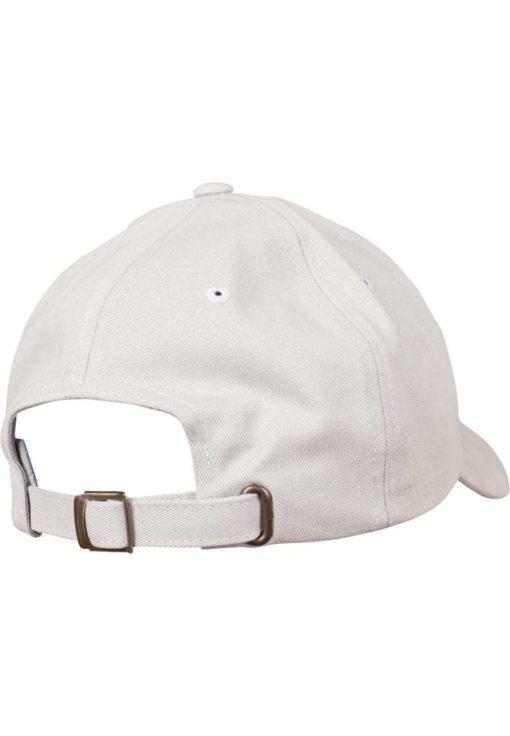 FlexFit Cap Peached Cotton Twill Dad Hellgrau - verstellbar Seitenansicht hinten