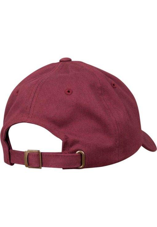 FlexFit Cap Peached Cotton Twill Dad Maroon - verstellbar Seitenansicht hinten