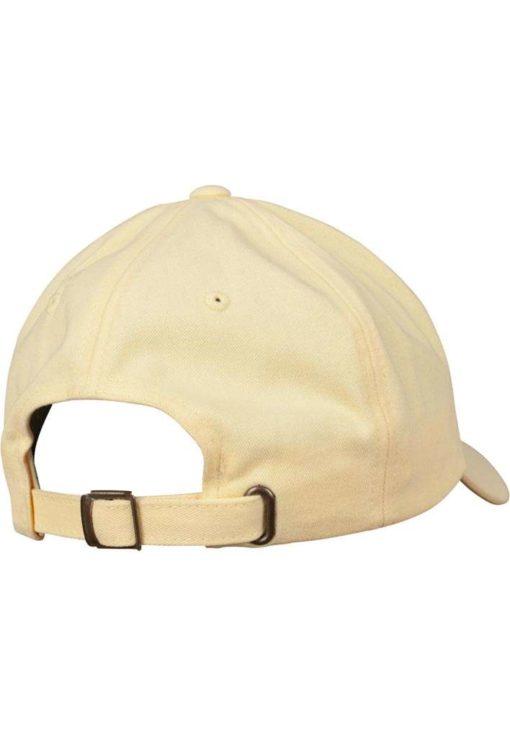 FlexFit Cap Peached Cotton Twill Dad Gelb - verstellbar Seitenansicht hinten
