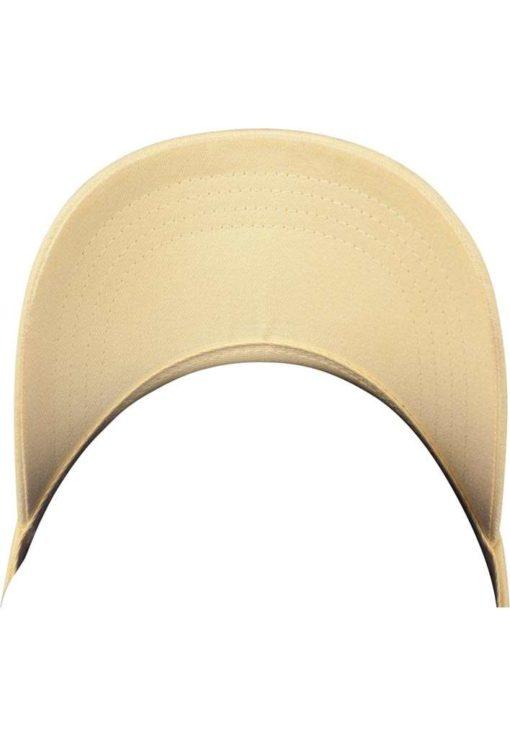 FlexFit Cap Peached Cotton Twill Dad Gelb - verstellbar Ansicht Schild