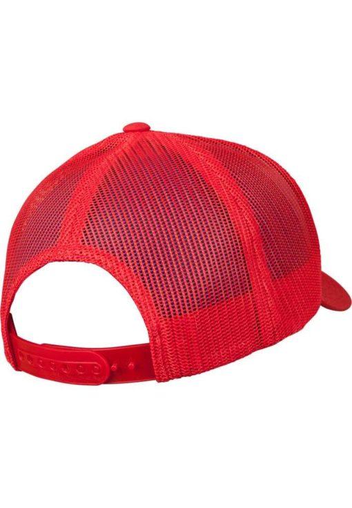 Retro Trucker Cap Colored Front Rot/Weiß/Rot - verstellbar Seitenansicht hinten