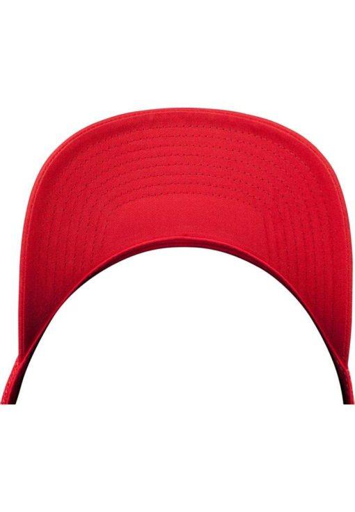 Retro Trucker Cap Colored Front Rot/Weiß/Rot - verstellbar Seitenansicht Schild