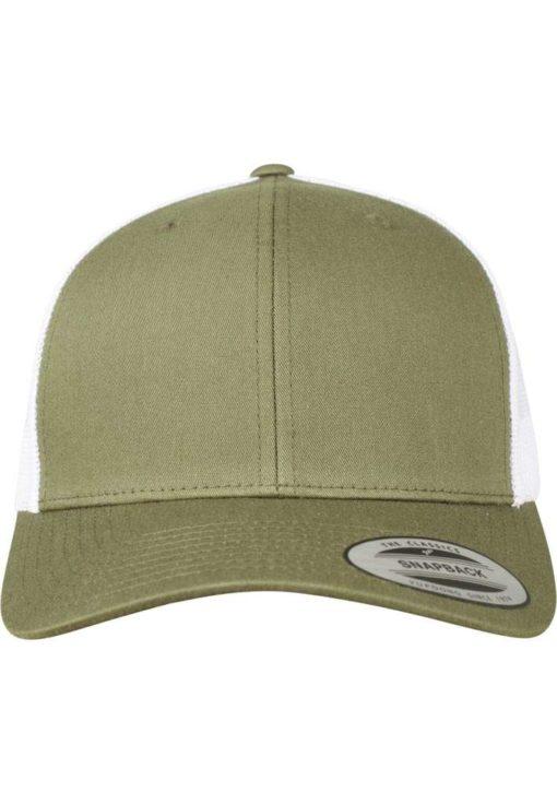 Trucker Cap Mesh Olive/Olive/Weiß - verstellbar Ansicht vorne