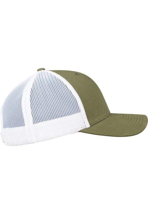Trucker Cap Mesh Olive/Olive/Weiß - verstellbar Seitenansicht rechts
