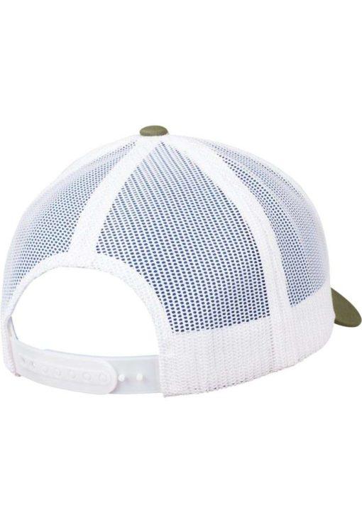 Trucker Cap Mesh Olive/Olive/Weiß - verstellbar Seitenansicht hinten