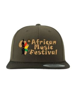 African Music Festival Snapback Cap Camo Olive 6 Panel - verstellbar