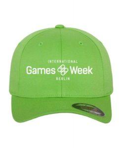 Games Week Flexfit Cap Giftgrün Wollmischung 6 Panel - Fitted