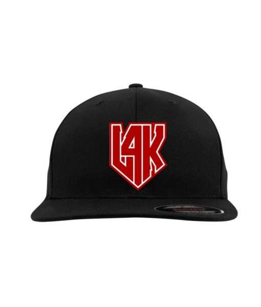 l4k-flexfit-flat-visor-schwarz-fitted