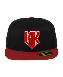 L4K Premium Cap 210 Schwarz/Rot 6 Panel - Fitted