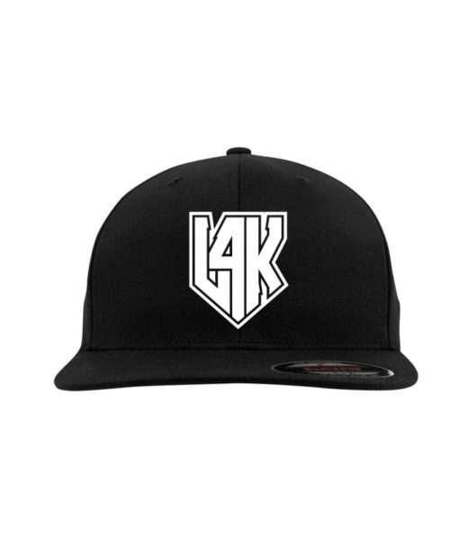l4k-w-flexfit-flat-visor-schwarz-fitted