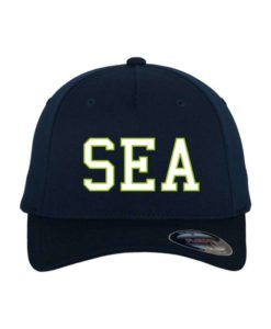 SEA-Classic Flexfit Cap Dunkelblau Wollmischung 6 Panel - Fitted