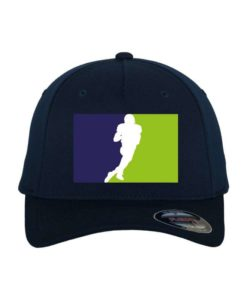 Seahawks-Classic Flexfit Cap Dunkelblau Wollmischung 6 Panel - Fitted