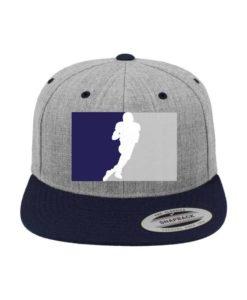 Cowboys Classic Snapback Cap Graumeliert/Dunkelblau 6 Panel - verstellbar