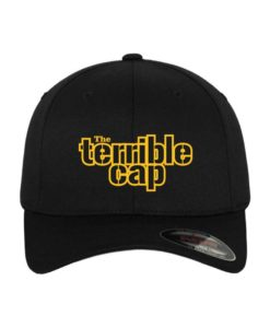 the terrible-Classic Flexfit Cap Schwarz Wollmischung 6 Panel - Fitted