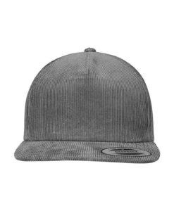 Premium Corduroy Snapback Grau Ansicht Front