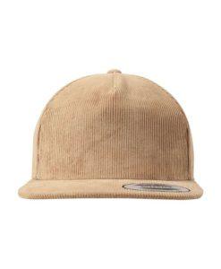 Premium Corduroy Snapback Khaki Ansicht Front