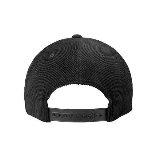 Premium Corduroy Snapback Schwarz Ansicht hinten