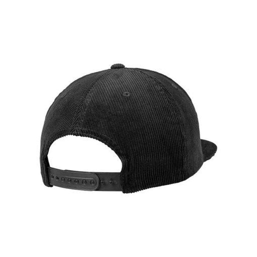 Premium Corduroy Snapback Schwarz Seitenansicht hinten