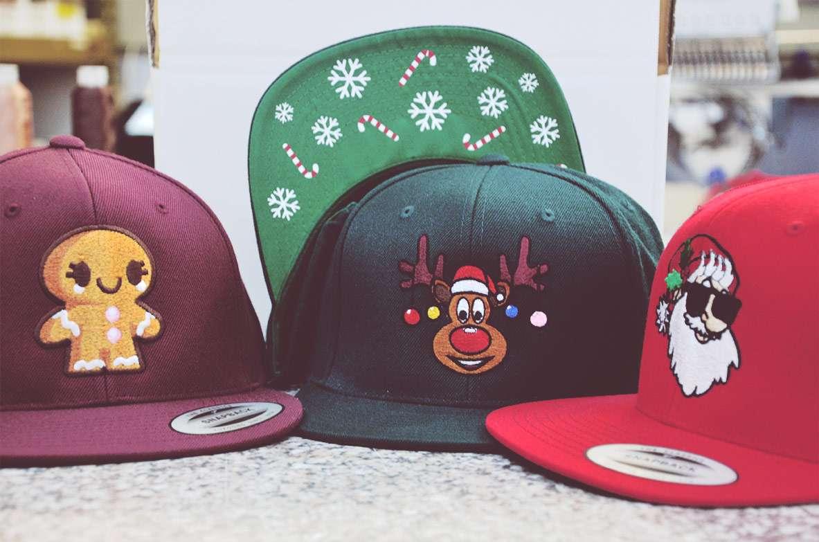 Weihnachtsmotive Baseballcaps