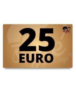 Gutschein über 25 Euro von style your cap