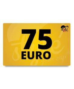 75 Euro Gutschein von style your cap