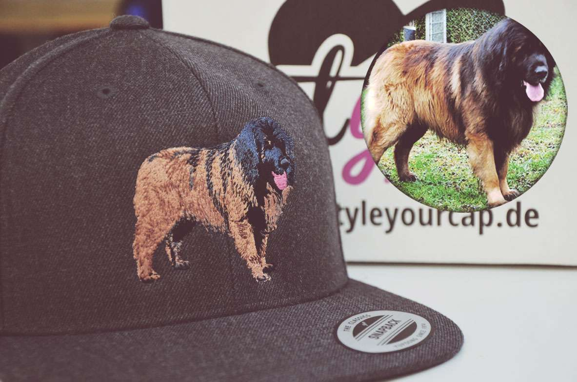 snapback classics cap grau mit hund bestickt style your cap