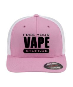 vape-stuff-flexfit-cap-trucker-mesh-pinkweiss-fitted