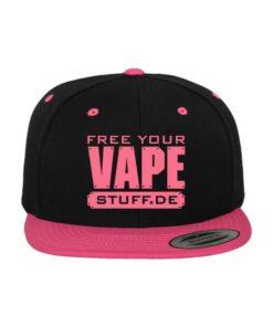 vape-stuff-pink-snapback-cap-classic-schwarzneonpink-6-panel-verstellbar