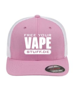 vape-stuff-weiss-flexfit-cap-trucker-mesh-pinkweiss-fitted