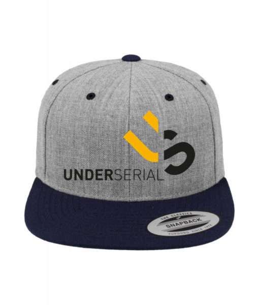 underserial-snapback-cap-classic-graumeliertdunkelblau-6-panel-verstellbar-1