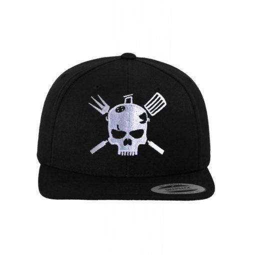 skull-griller-snapback-cap-classic-schwarz-6-panel-verstellbar-1