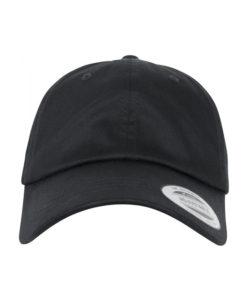 dad-cap-bio-baumwolle-schwarz-verstellbar-front