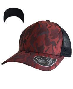 atlantis-rapper-camou-trucker-cap-burgundy-black-verstellbar