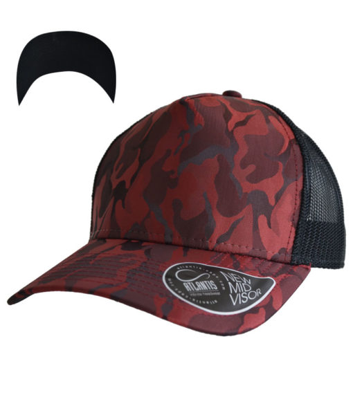 atlantis-rapper-camou-trucker-cap-burgundy-black-verstellbar