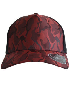 atlantis-rapper-camou-trucker-cap-burgundy-black-verstellbar-front