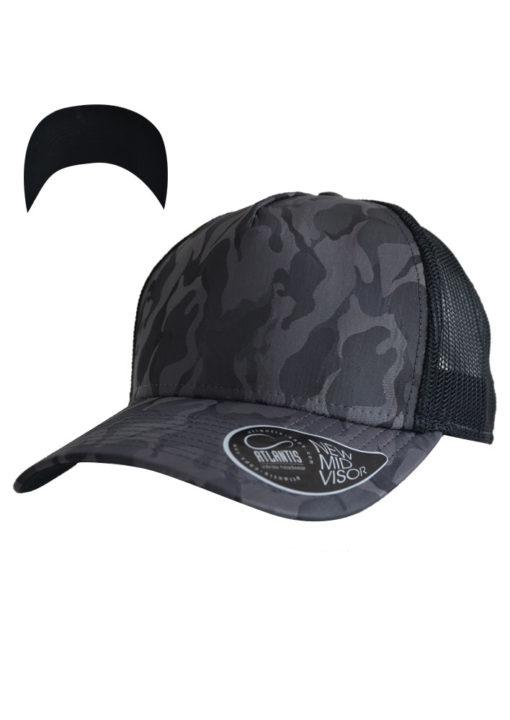 atlantis-rapper-camou-trucker-cap-darkgrey-black-verstellbar
