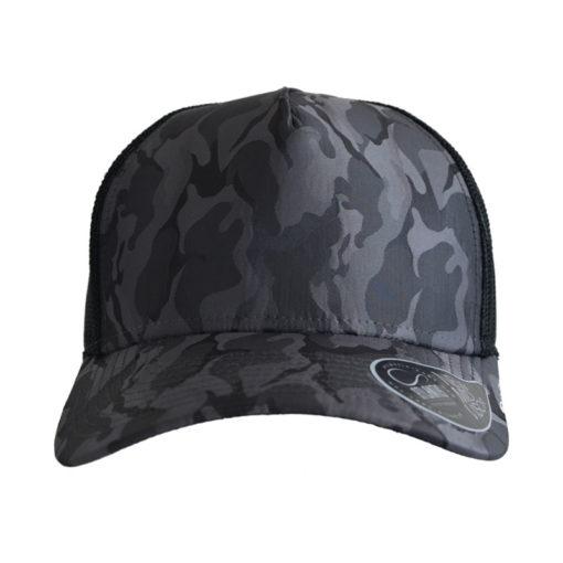 atlantis-rapper-camou-trucker-cap-darkgrey-black-verstellbar-front