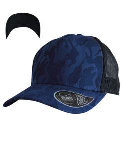 atlantis-rapper-camou-trucker-cap-royal-black-verstellbar