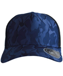 atlantis-rapper-camou-trucker-cap-royal-black-verstellbar-front