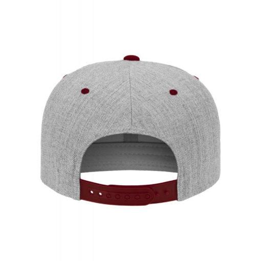 standard-snapback-cap-classic-graumeliertdunkelrot-6-panel-verstellbar-2