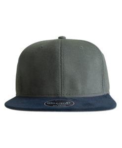 vibe-cap-snapback-dunkelgrau-dunkelblau-front