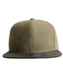 vibe-cap-snapback-khaki-braun-front